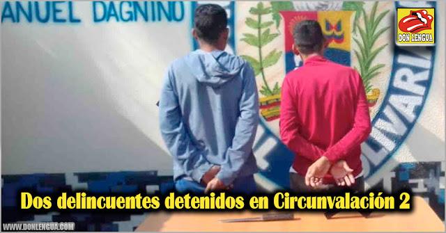 Dos delincuentes detenidos en Circunvalación 2