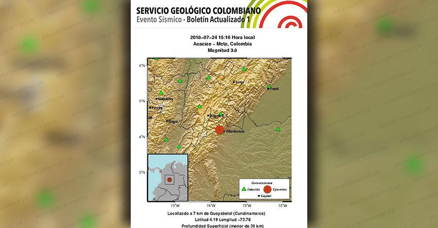 FUERTE SISMO EN COLOMBIA de magnitud 3.8 (Hoy Martes 24 Julio 2018) Sismo EPICENTRO Acacías - Meta - Quetame - Guayabetal - Cundinamarca - Bogotá - www.sgc.gov.co