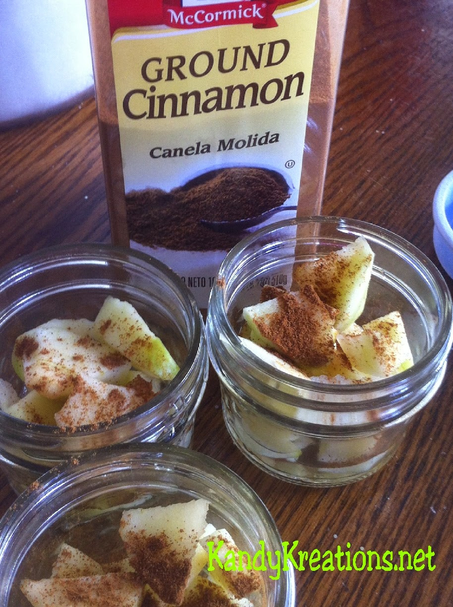 Apple Crisp Recipe Dessert in a Jar.  Yummy single serve desserts in a mason jar that make dessert extra fun and special.