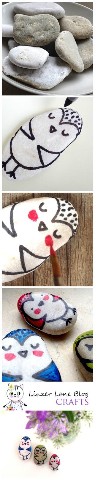 Stoney Owls Craft Tutorial | Linzer Lane Blog