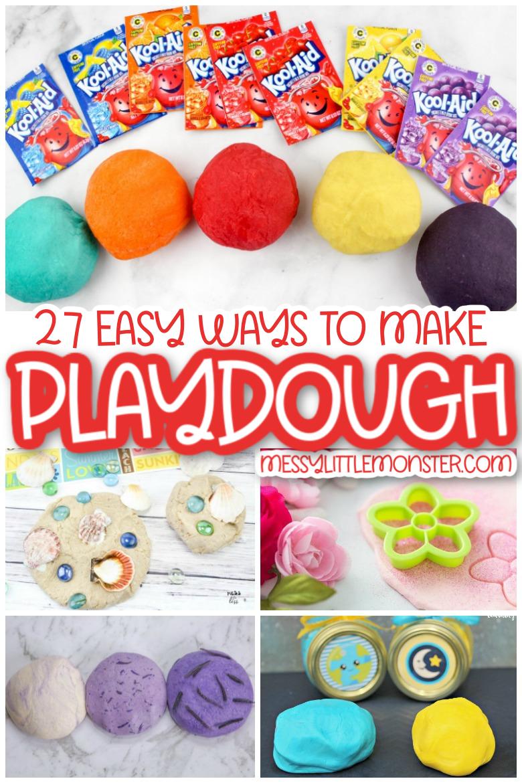 Easy homemade playdough recipes