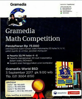 Lomba Gramedia Math Competition | Gramedia World BSD | SD Sederajat