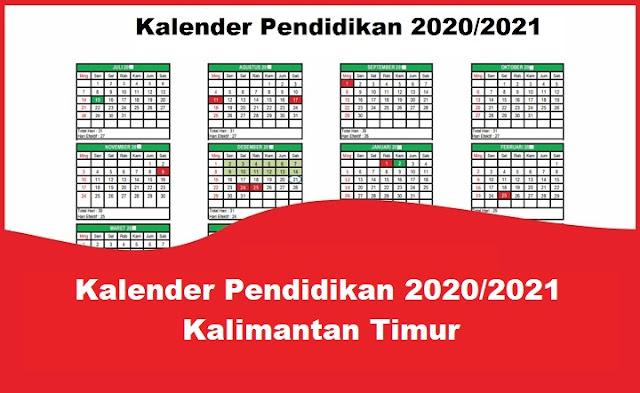 Kalender Pendidikan 2020/2021 Kalimantan Timur