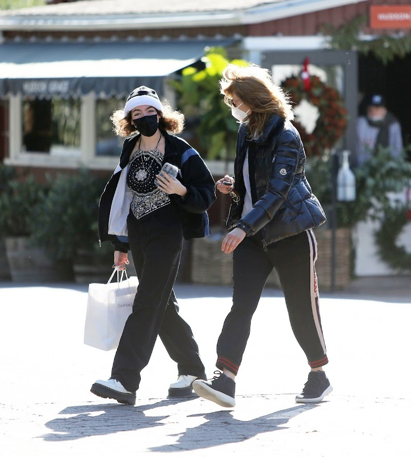 Laura Dern and Jaya Harper Clicked Outside  in Brentwood 31 Dec-2020
