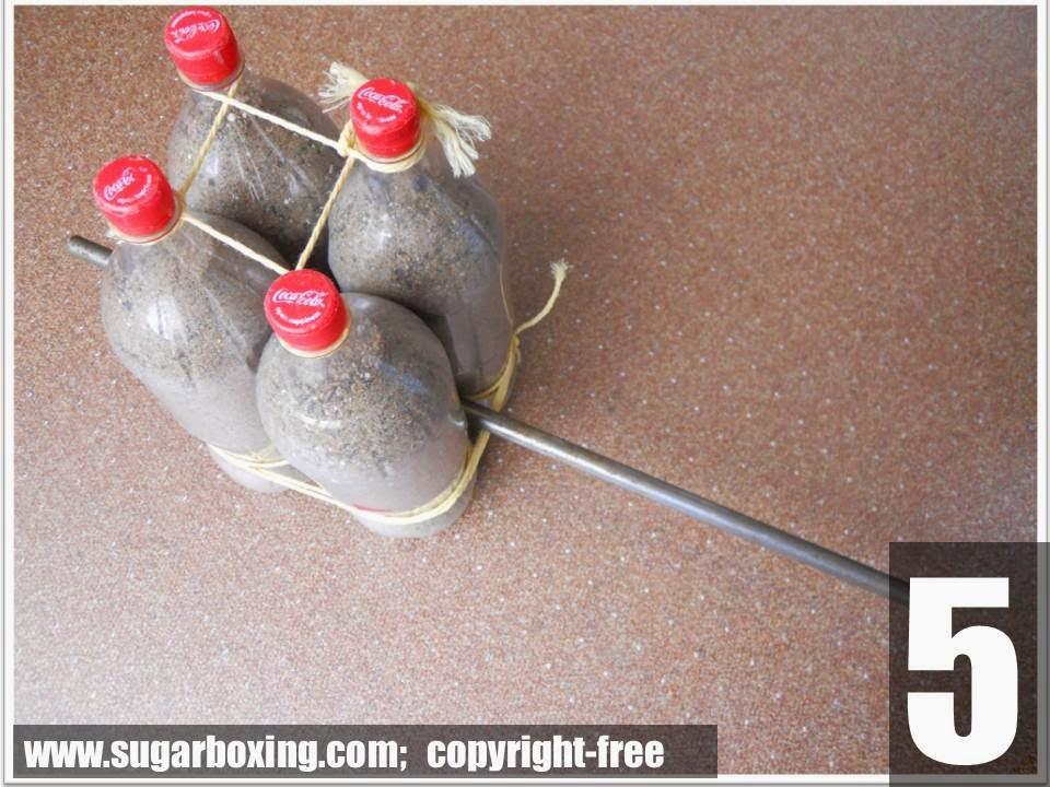 como fazer pesos caseiros para malhar em casa - passo 4