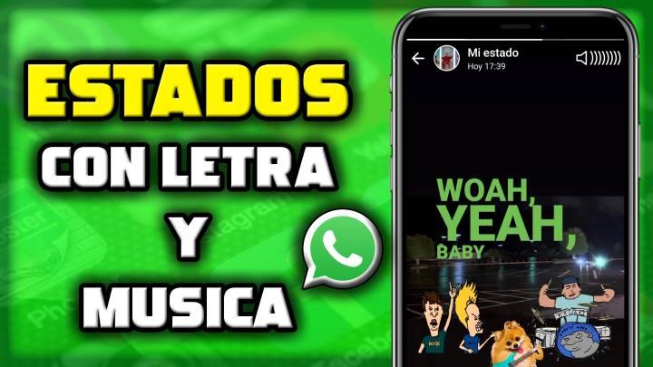 El truco para subir música y letra en estado de WhatsApp que no conocías