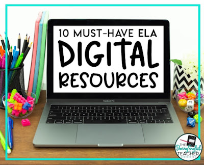 Digital middle school and high school ELA resources for distance teaching, remote teaching, and hybrid teaching