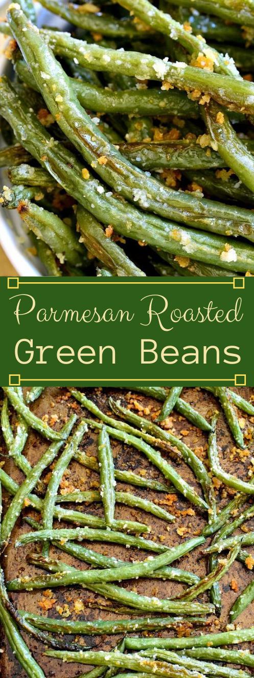 PARMESAN ROASTED GREEN BEANS #dinner #roasted #mushroom #cauliflower #easy