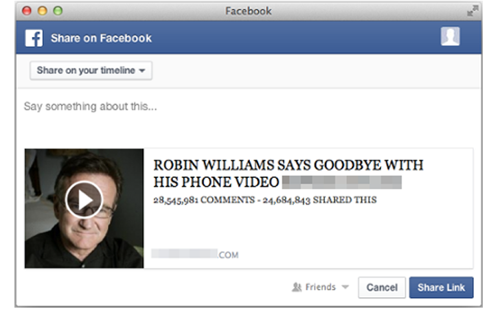 Facebook Scammers Exploit Robin Williams' Suicide