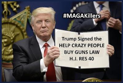 Trump Signed the Help Crazy People Buy Guns Law #MAGAKillers MEME - gvan42 - Gregory Vanderlaan