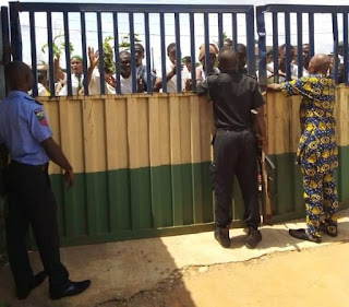 SECONDARY SCHOOL STUDENTS PROTEST IN LAGOS OVER RESULTS