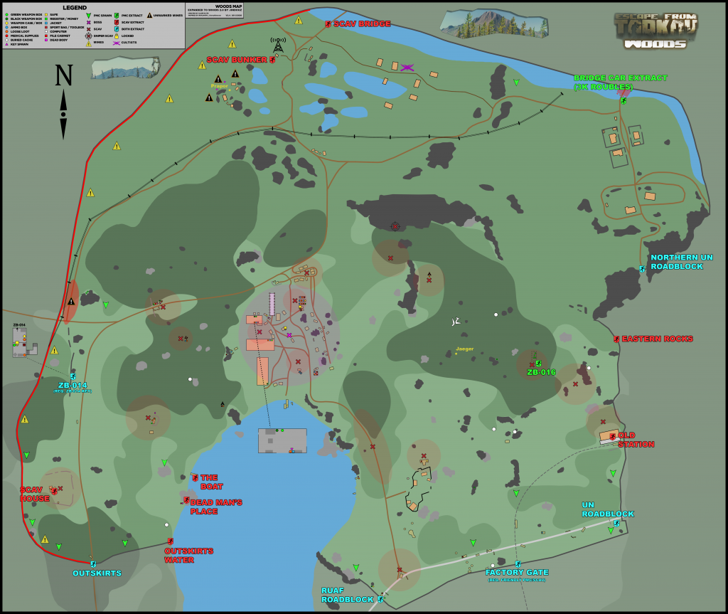 Escape from Tarkov: map Forests 2021