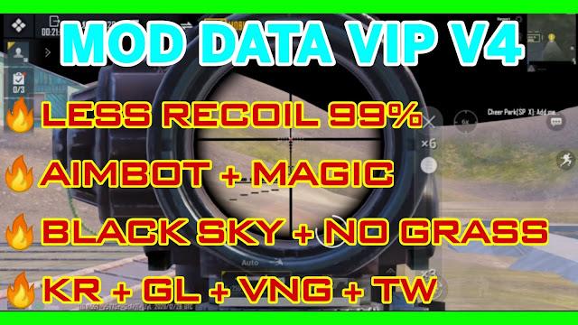 MOD DATA PUBG MOBILE 1.1.0 V4 SUPPORT ALL PUBG | LESS RECOIL 100% + MAGIC BULLET + AIMBOT + NO GRASS | HQT LAG GAMING