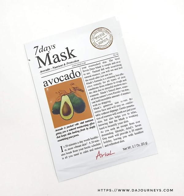 Review ARIUL 7 Day Masks Avocado