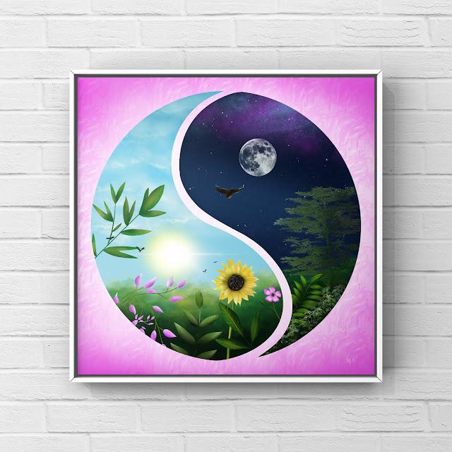 summer landscape in yin and yang image artwork