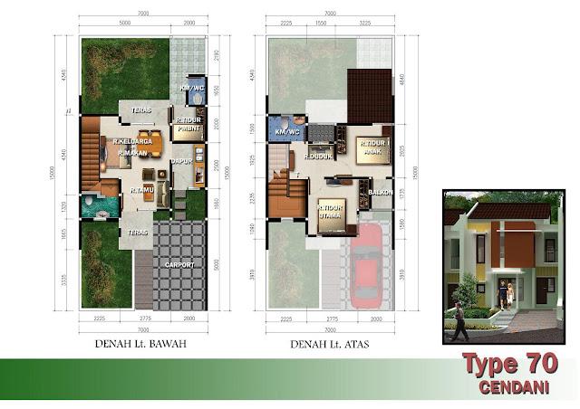 Desain Rumah Minimalis Modern Tipe 70 Terbaru 2016