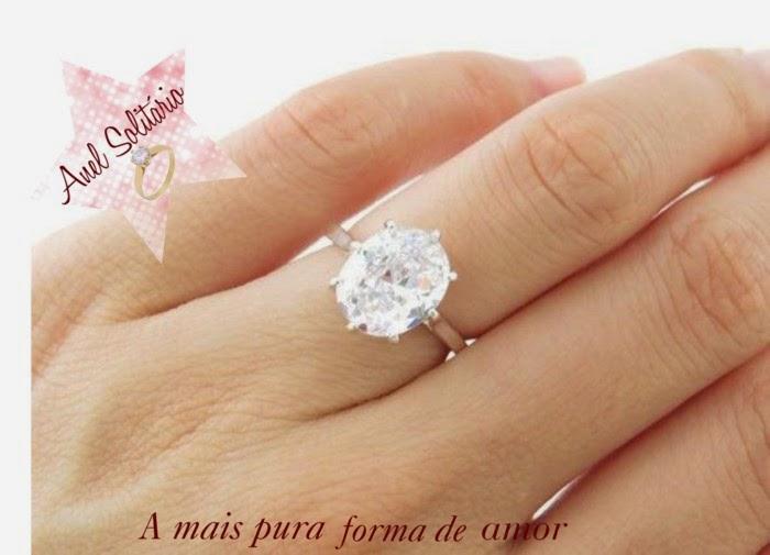 Anel Solitario Semi Joia Ouro MercadoLivre Brasil - anel de noivado semi  joia 8550b88884