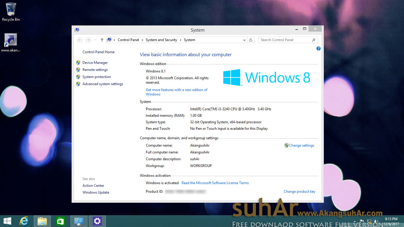 Free download Windows 8.1 AIO November 2017 Full Product Key