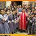 हॉली क्रॉस स्कूल में होली मिलन, छात्रों को तनाव मुक्त होकर परीक्षा देने की सलाह