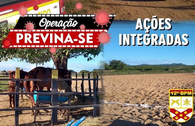 Polícia Militar, Bombeiros, MP e Prefeitura criam 'Patrulha Covid' e fecham bolão de vaquejada na Zona Rural de São Bento