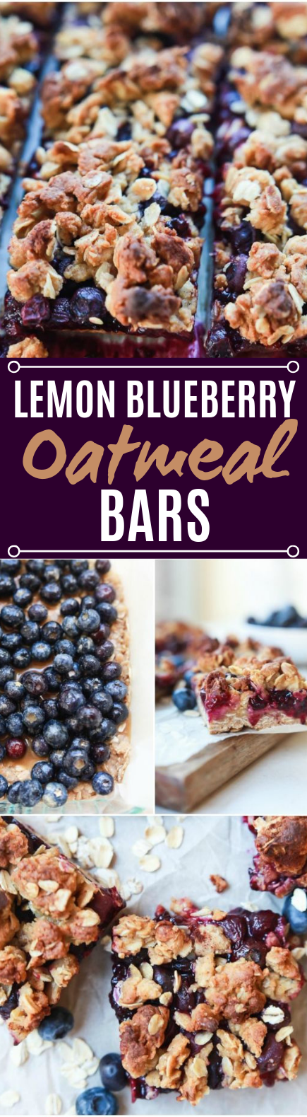 Lemon Blueberry Oatmeal Bars #desserts #snacks