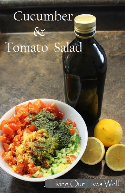 Middle Eastern Cucumber & Tomato Salad