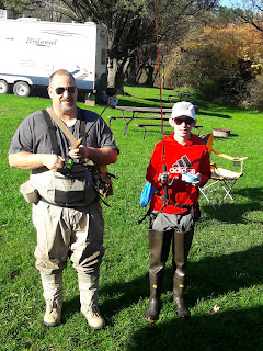 Getting ready for trout fishing Highlandville Iowa