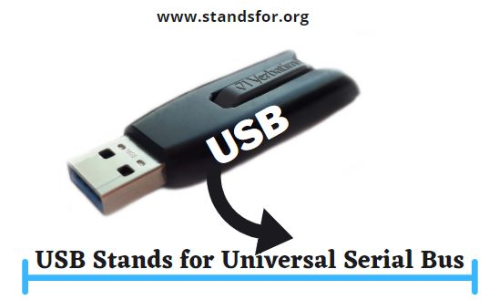 USB-USB Stands for Universal Serial Bus.
