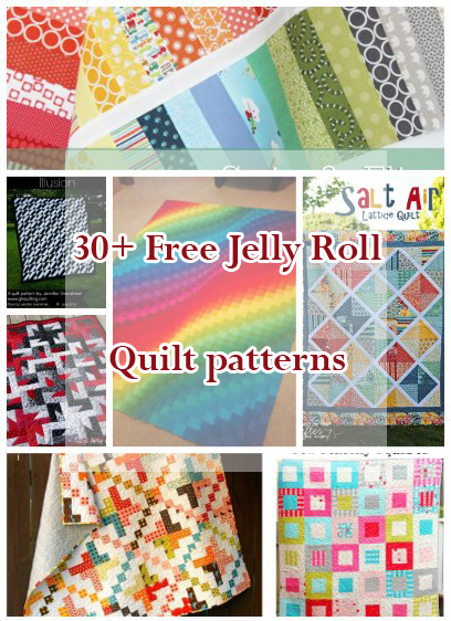 30+ Free Jelly Roll Quilt Patterns