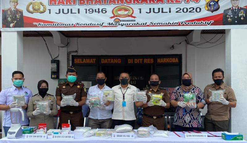 Ditresnarkoba Polda Riau Musnahkan 18 Kg Sabu, Hasil Pengungkapan Jaringan Internasional