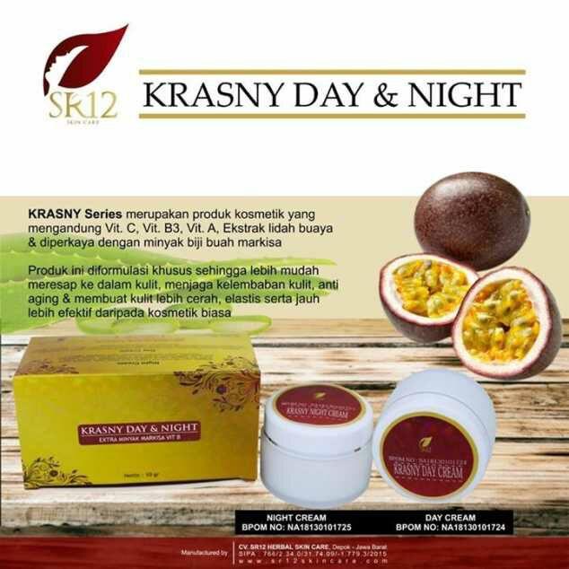 Krasny Day Night Cream SR12 Bermanfaat Melembabkan dan Membuat Kulit Elastis dan Awet Muda