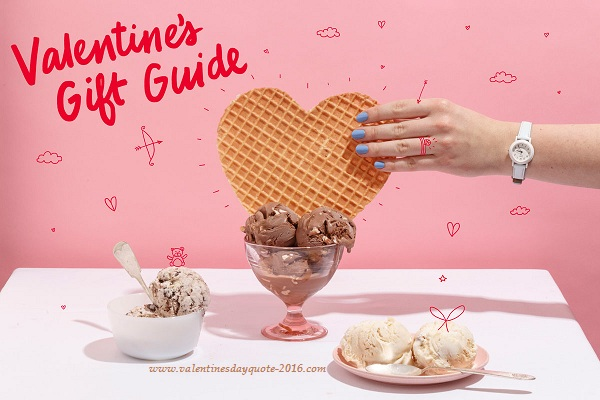 Valentines Day 2017 Special lovers day Ice creams