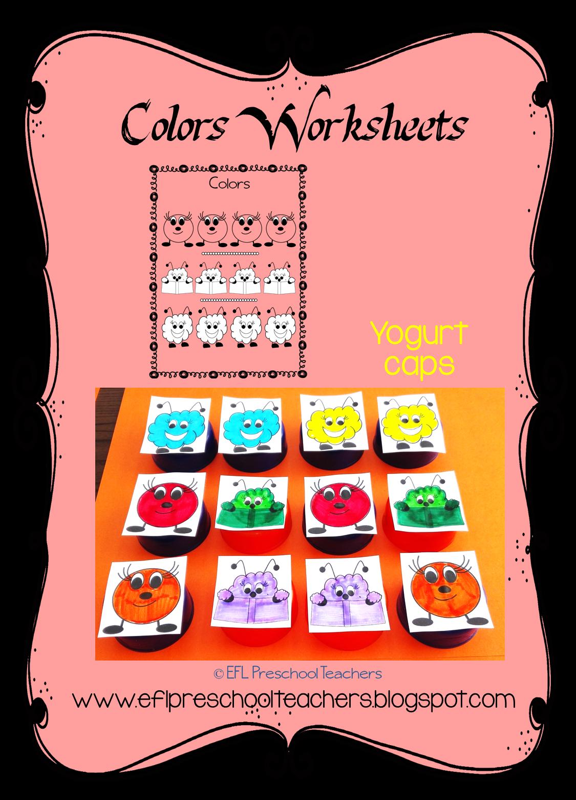ESL/EFL Preschool Teachers: Color Worksheets