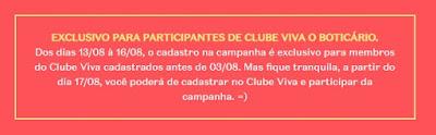 cadastro para quem tem clube viva amostra gratis