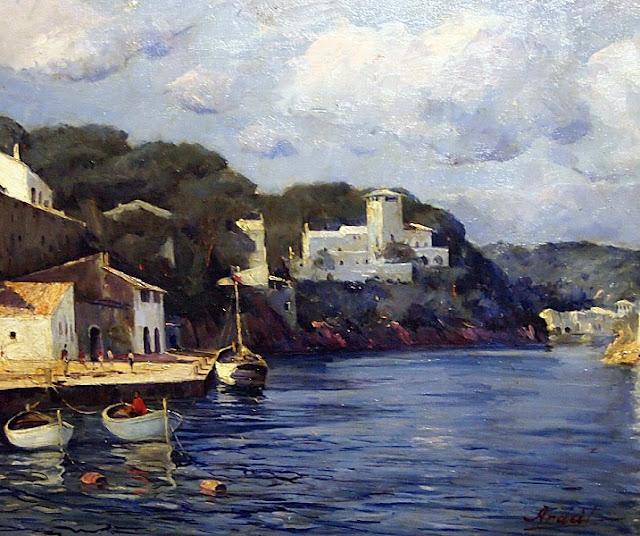 Eduard Aracil Sasal, Puerto Santanyí, Mallorca en Pintura, Mallorca en Pintura, Mallorca pintada, Paisajes de Mallorca, Mallorca en Pintura