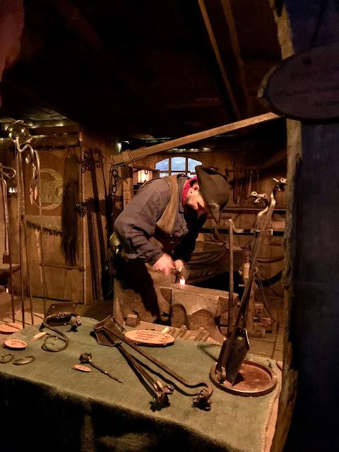 pirate blacksmith at Bremen Weser riverside Christmas market