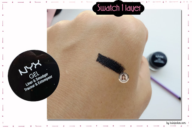 Review+NYX+GEL+eyeliner+and+Smudger
