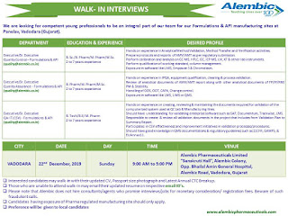 Alembic pharma Walk in