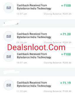 helo app paytm payment proof