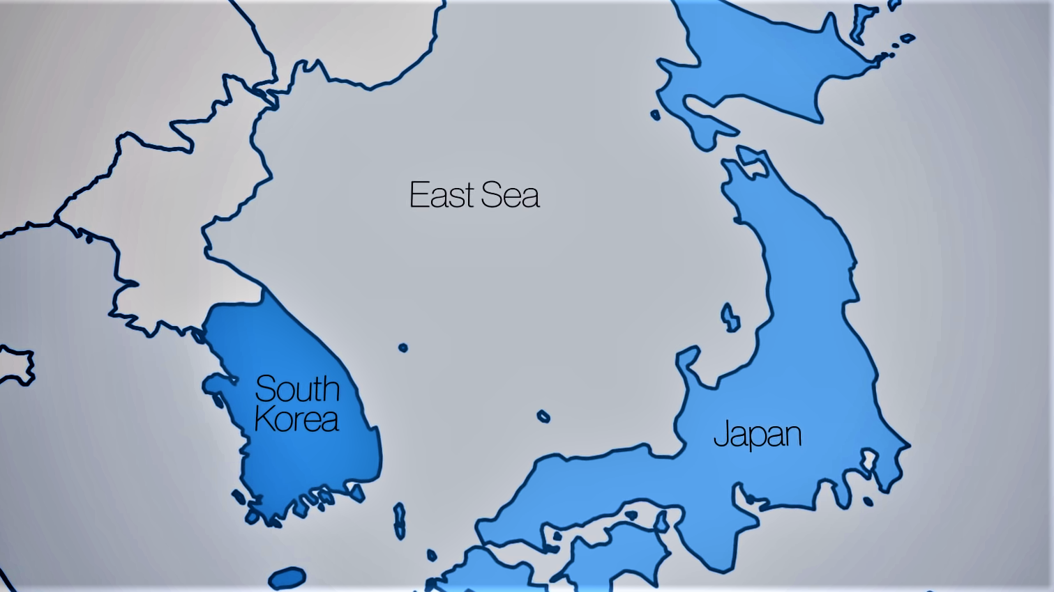 japan and south korea trade war map