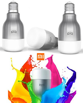 Yeelight Bulbs: Smart Wireless RGBW 9Watts LED Lights - Dimmable Color-Changing Lamps with Voice Control - XiaoMi Brand