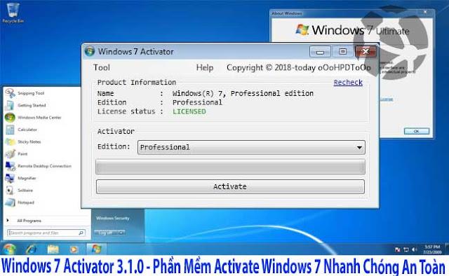 Windows 7 Activator 3.2.0 - Phần Mềm Activate Windows 7 Nhanh Chóng An Toàn