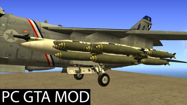 Free Download A-7E Corsair II v2  Mod for GTA San Andreas