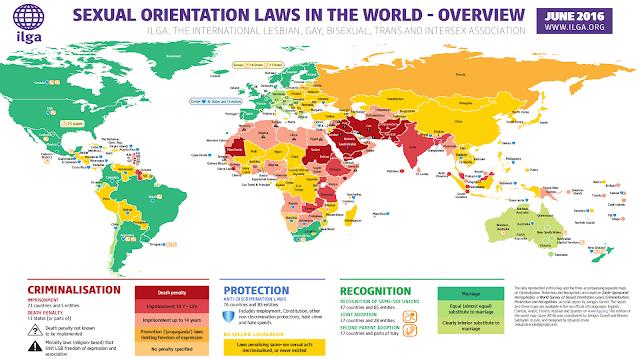 El mapa de la homofobia coincide con el de las zonas con mayor terrorismo