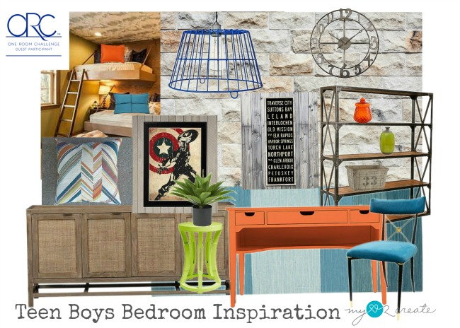 Taking the one room challenge to transform my teem boys bedroom in 5 short weeks! Teen Boys Bedroom Inspiration, MyLove2Create