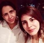 Kirti Kulhari with her sister kiran