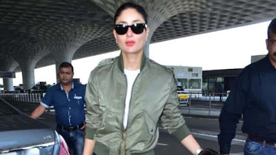 Kareena is seen showing her stylish style on the road