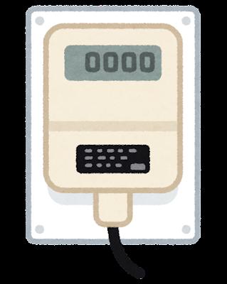 水道メーターの受信器のイラスト