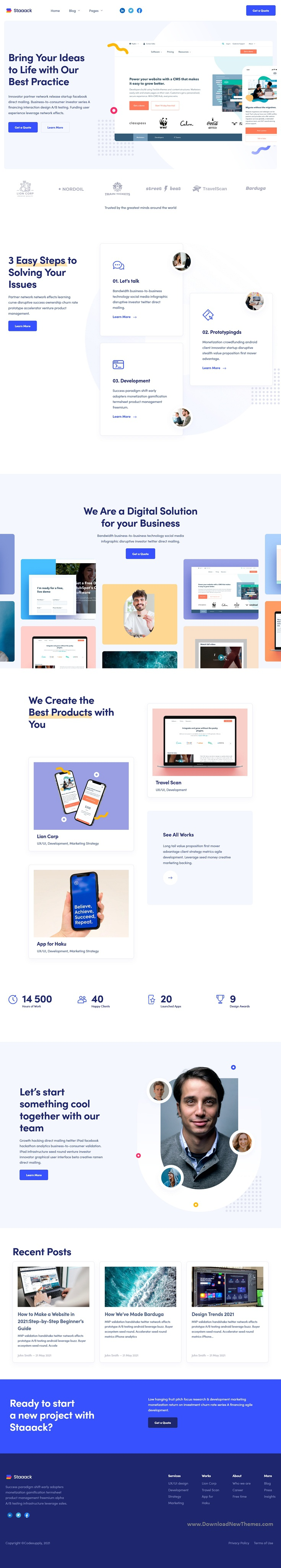 Modern HubSpot Theme for Startups, Apps & Services