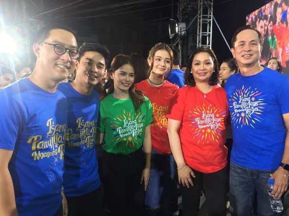 ABS-CBN's big bosses during the launch of Christmas Station ID 2016.